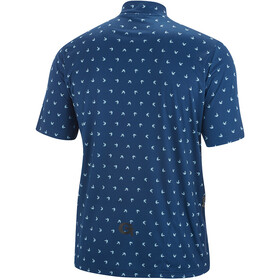Gonso Peio Maglia Da Ciclismo Con Mezza Zip Uomo, dark blue allover